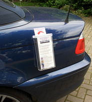 Vehicle Leaflet Holder