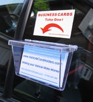 Vehicle Card Holder - Clear