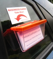 Vehicle Card Holder - Orange